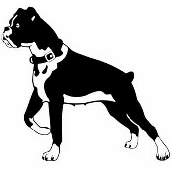 Stickers Boxer Dog