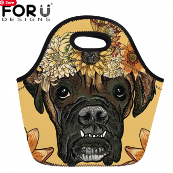 boxer 2020 Women Thermal Cooler Lunch Bag Cartoon Daisy Boxer Lunch Box Ladies Daypack Hand Tote for Students School Meal Bag