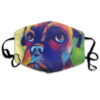 Boxer dog face mask