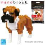 Boxer Dog 3D Model Mini Blocks Toy for kids Gift
