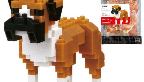 Boxer Dog 3D Model Mini Blocks Toy for kids Gift