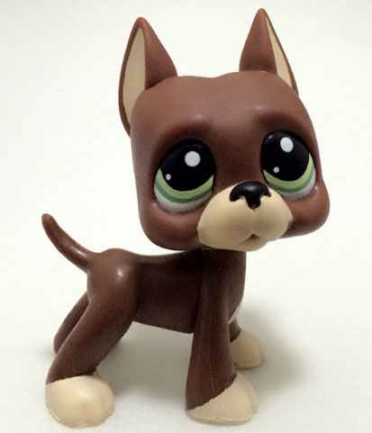 cute toy figurine dog boxer