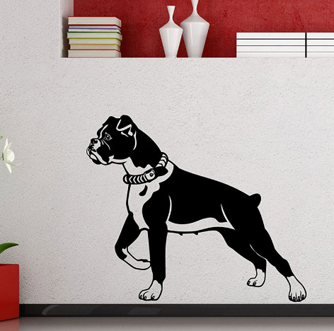 wall decal boxer dog Sticker